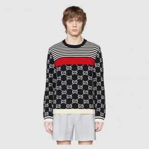 pulls gucci sweat-shirt en coton wool sweater  black