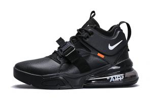 chaussures nike air force 270 basketball black orange