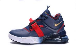 chaussures nike air force 270 basketball cuir blue