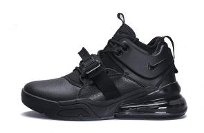 chaussures nike air force 270 basketball leather black
