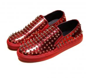 chaussures philippe mode rivets red