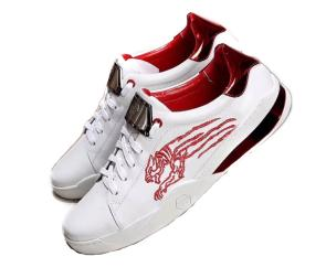 chaussures philippe mode sport tiger white