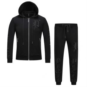 sport philipp plein jogging two piece set electric rust