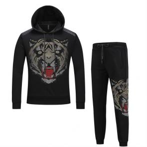 sport philipp plein jogging hoodie hot drill tiger