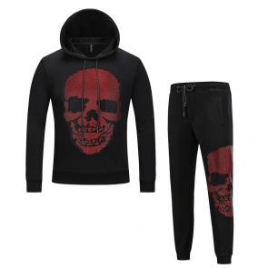 sport philipp plein jogging hoodie two piece jacket hot drill skull