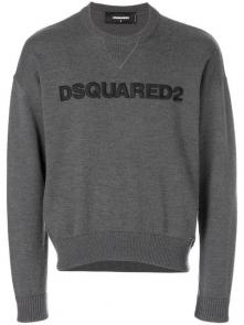sweatshirt dsquared2 sale broderie col rond