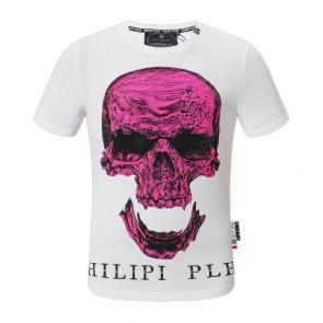 t shirt philipp plein homme pas cher manches courtes laughing out loud skull