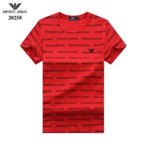tee shirt emporio armani pour homme nouvelle collection armani logo rouge broderie