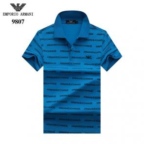 tee shirt emporio armani pour homme nouvelle collection polo eagle blue
