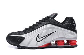 trainers nike shox r4 men shoes metallic leather silver