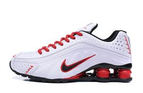 trainers nike shox r4 men shoes rival 4 white red