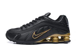 trainers nike shox r4 men shoes rival black gold