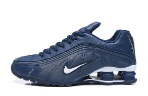 trainers nike shox r4 men shoes rival blue blanc