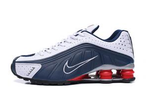 trainers nike shox r4 men shoes rival blue white red