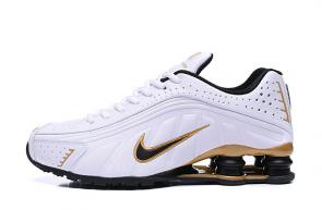 trainers nike shox r4 men shoes rival white gold