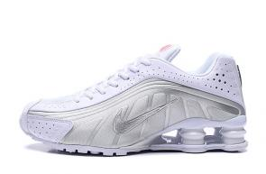 trainers nike shox r4 men shoes rival white silver