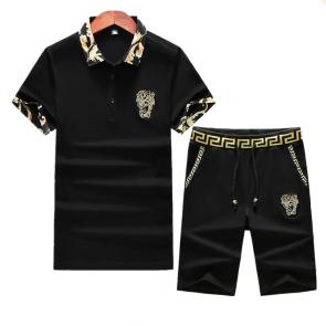 versace Tracksuit manches courtes collection baroque col medusa