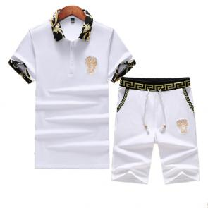versace Tracksuit manches courtes collection embroidery logo medusa