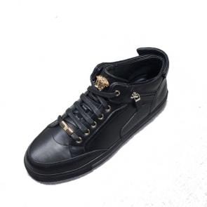 versace chaussure discount leather high