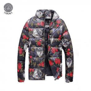 versace doudoune homme hiver red flower