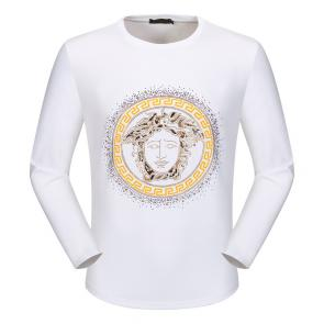 versace t shirt long sleeves color medusa blanc