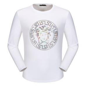 versace t shirt long sleeves color white medusa round