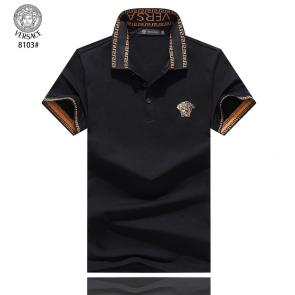 versace t-shirt cheap collection v8103 embroidery black