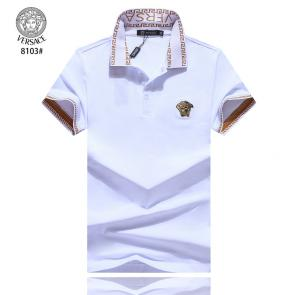 versace t-shirt cheap collection v8103 embroidery white