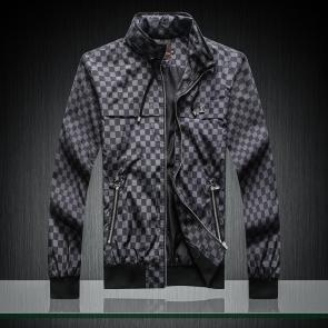jacket capuche embroidered louis vuitton grid hoodie