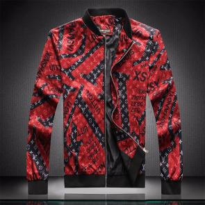 jacket capuche embroidered louis vuitton oyagez red black