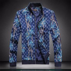 jacket capuche embroidered louis vuitton tree blue