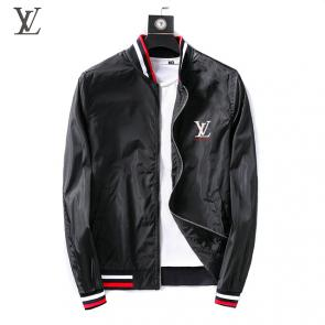 jacket capuche embroidered louis vuitton zipper black