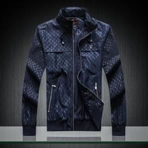 jacket capuche embroidered louis vuitton zipper blue