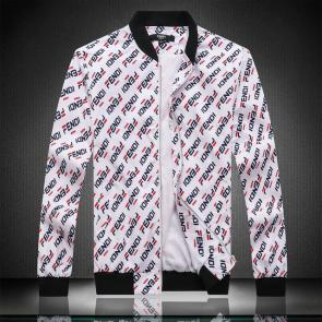 jacket fendi roma new jacket f301 zipper white