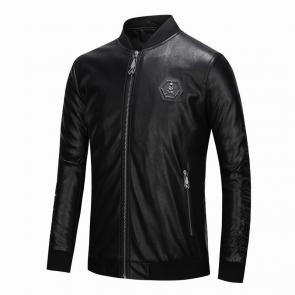 jacket philipp plein women man leather bomber 1968 skull