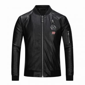 jacket philipp plein women man leather bomber 78 skull star