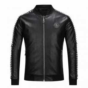veste philipp plein femmes hommes leather bomber fashion hommess 1968