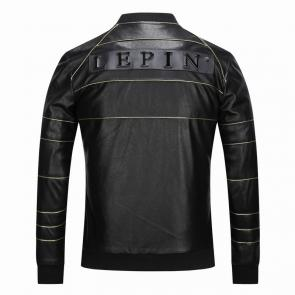 veste philipp plein femmes hommes leather bomber or line