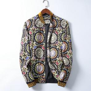 jacket versace homme discount badge print