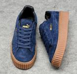 2016 puma chaussures sign x rihanna new blue brown