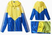 adidas veste sweat zippe capuche hoodie orange blue,vestes chevignon