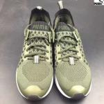 basket puma ignite proknit on knit sock green