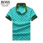 boss orange tipped collar polo shirt collier vert