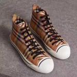 burberry women shoes salmond check italy vintage high shoes