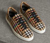burberry femmes chaussures salmond check italy vintage cotton canvas