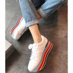 hogan platform women sneakers 2018 rainbow sole