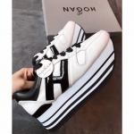 hogan platform women sneakers 2018 white italy black