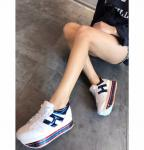 hogan platform women sneakers 2018 white logo blue