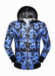 jacket veste versace luxury casual hoodie blue