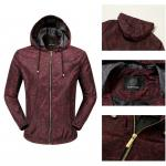 jacket veste versace luxury casual red hoodie